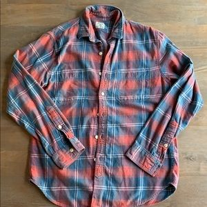 J. Crew flannel plaid shirt